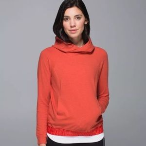 Lululemon All Good Pullover hoodie Alarming Orange